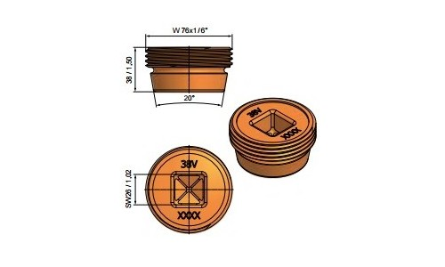 for wall thickness 40mm
